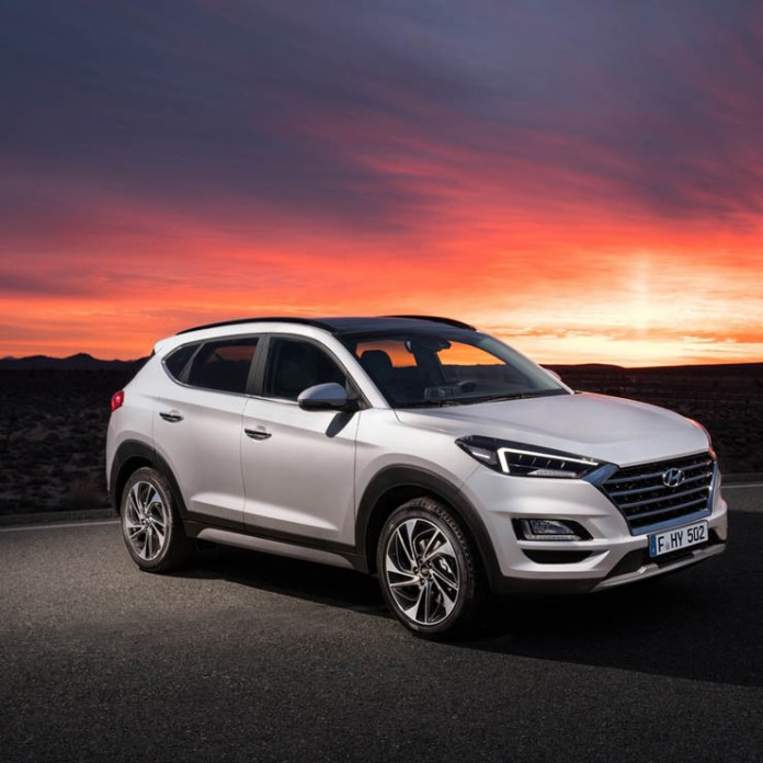 2019 Hyundai Tucson facelift images front