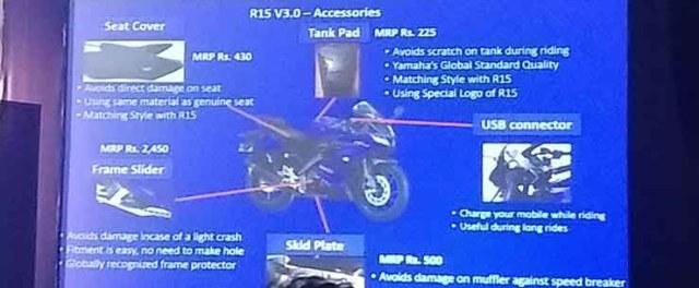 yamaha r15 v3.0 accessories