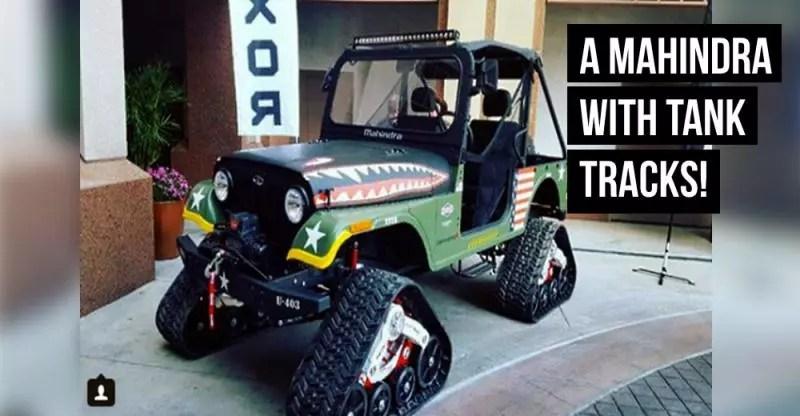 Mahindra Thar Based Roxor With Tank Tracks Can Truly Go