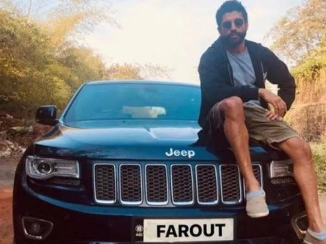 Farhan Akhtar Jeep