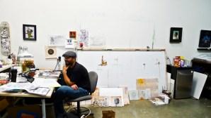 Bob-Dob-by-Daniel-Rolnik-studio-visit-work-in-progress-sketch-portrait-12