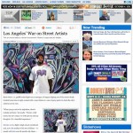 """Los Angeles' War on Street Artists"" via LAWEEKLY"
