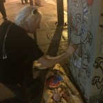 Emmeric Konrad Paints a New Utility Box on 5th and Spring in Dowtown Los Angeles