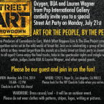 """Street Art Throwndown"" Monday Party Filming: Guests/Extras Invited"