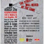 "Save the Date: August 2, ""The Streets Will Never Be the Same"""