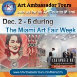 Cartwheel Art Tours Partners with Art Ambassador Tours for Miami Art Fair Week 2015