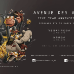 SAVE THE DATE: Avenue des Arts Five Year Anniversary Show – Friday, February 9th
