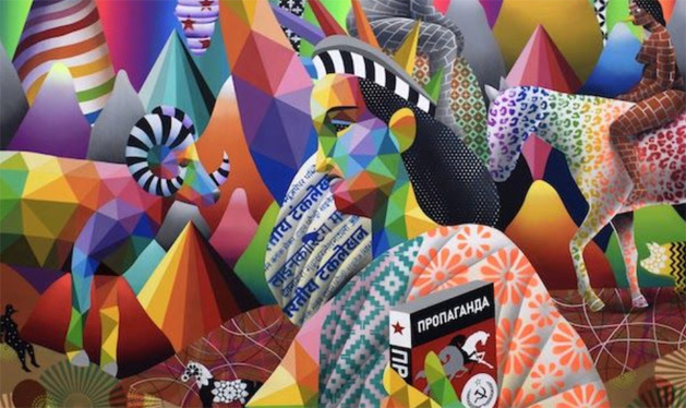 Okuda, ​BOREAL REVOLUTION​, 2018 ​- ​3 Punts Galeria in the European Pavilion at the LA Art Show 2020