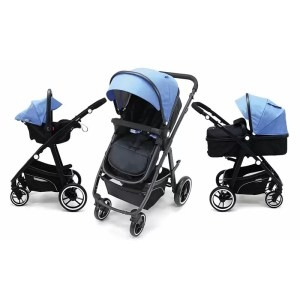 Carucior 3 in 1 Asalvo CONVERTIBLE TWO blue