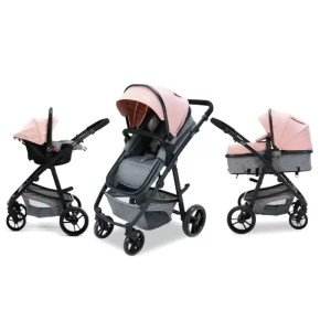 Carucior 3 in 1 Asalvo CONVERTIBLE TWO pink