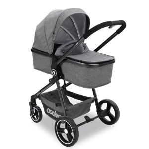 Carucior transformabil Asalvo RISO 3 in 1 grey 1