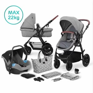 Carucior XMoov Kinderkraft 3 in 1 grey 1