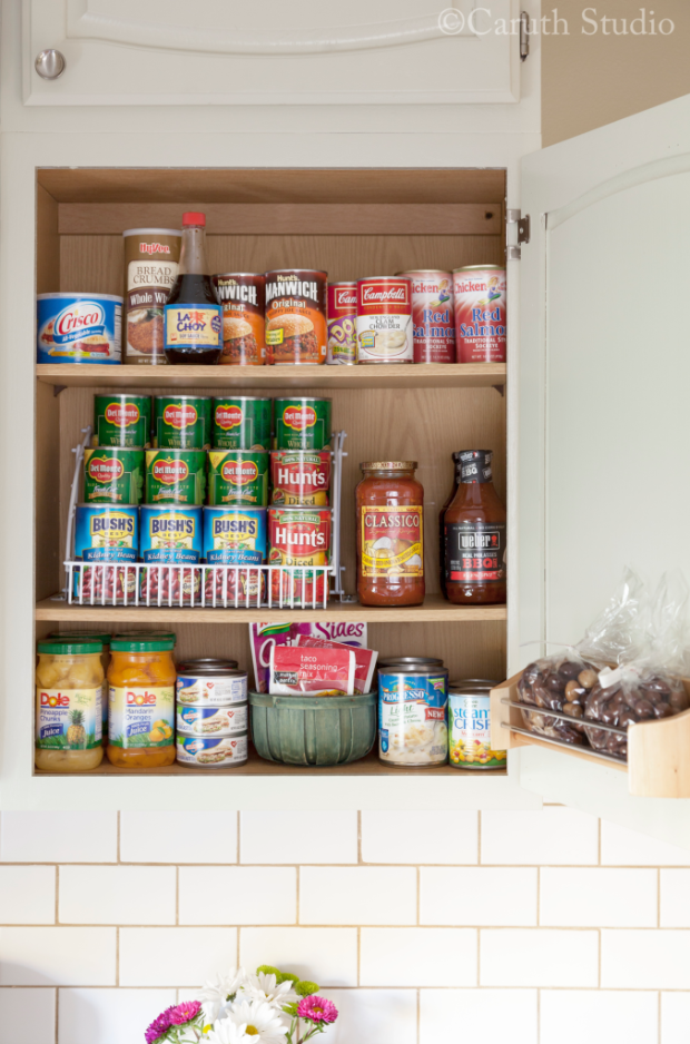 Small kitchen makeover canned goods