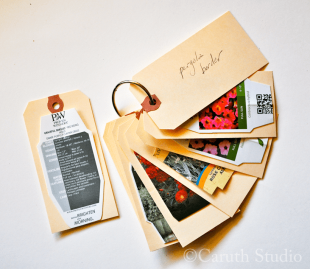 plant tags attached to shipping labels