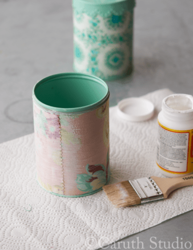 Coating-canister-covered-with-fabric-scraps