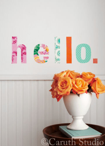 Fabric-scrap-wall-decal