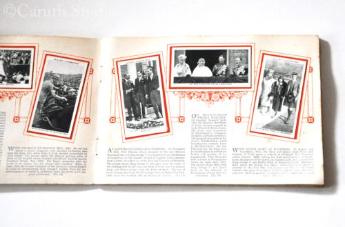 George VI commemorative cigarette cards