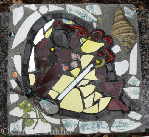 Mosaic butterfly steppingstone