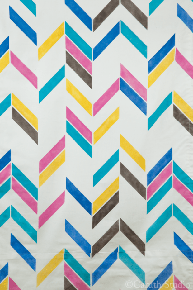 Painted shade pattern