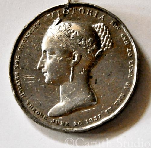 Queen Victoria coronation medallion