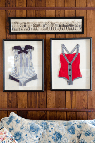 Framed swimsuits