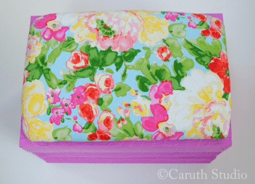 Attach cover to painted crate