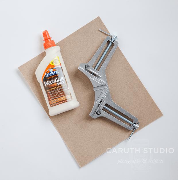 sandpaper wood glue corner clamp