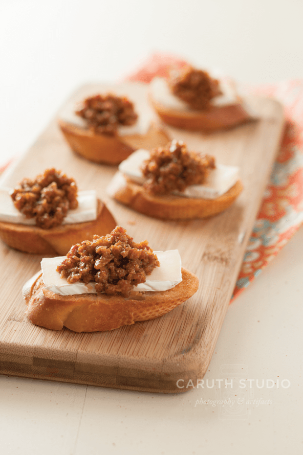 Bacon Jam on cheese and bread