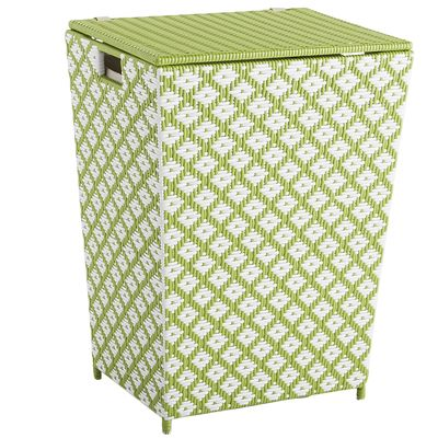 San Martin Green Wicker Laundry Hamper