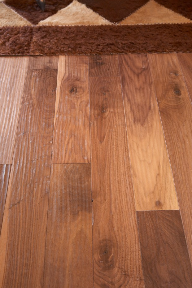 Whisper Mountain_HomerWood Amish Hand Scraped Black Walnut Natural Armsrong Flooring