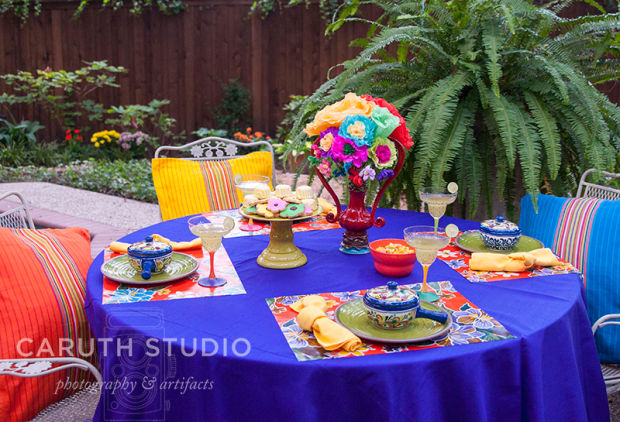Fiesta party table - party time