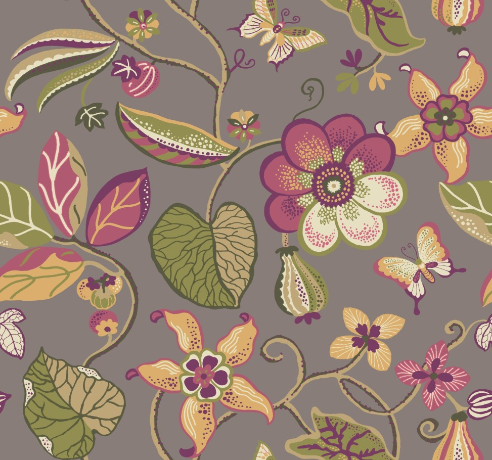 floral wall paper pattern