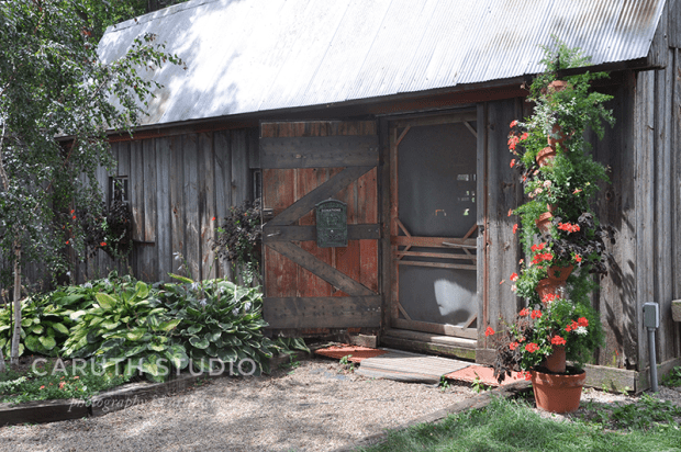 Potting shed exterior