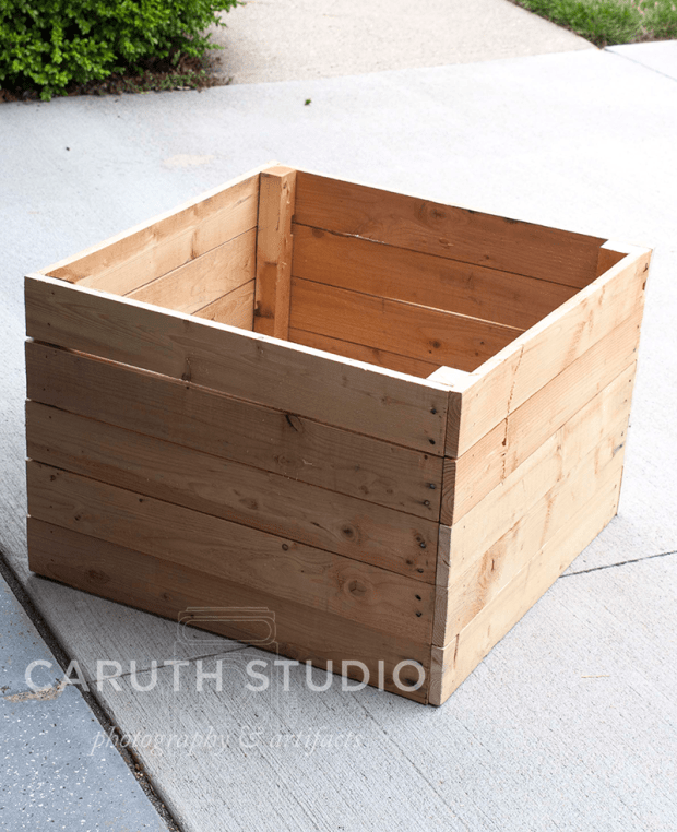 Add fourth side to planter