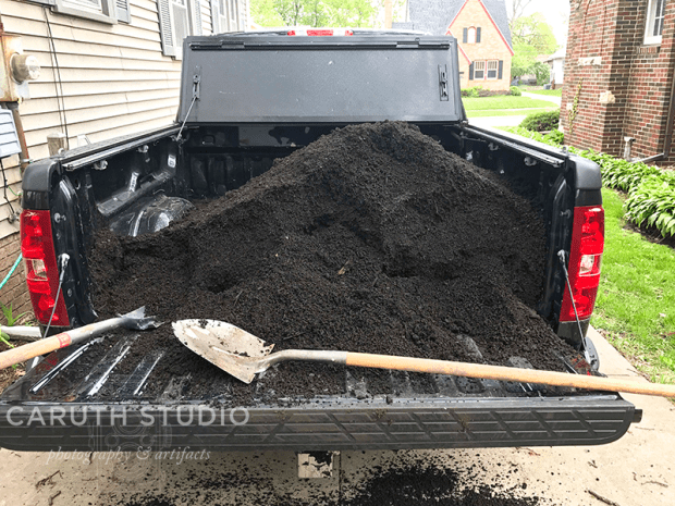 Compost from landfill