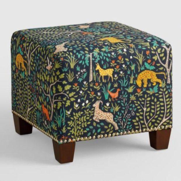 Folkland McKenzie Upholstered Ottoman