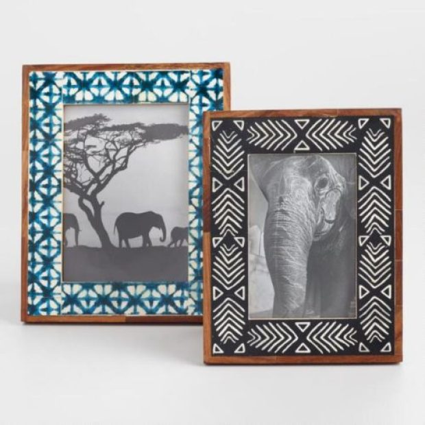 African Mud Cloth And Shibori Bone Frames