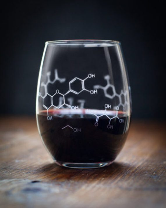 Chemistry of Wine Molecules Stemless Glass