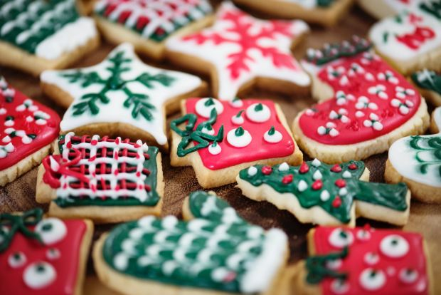 assorted decorated christmas sugar cookies
