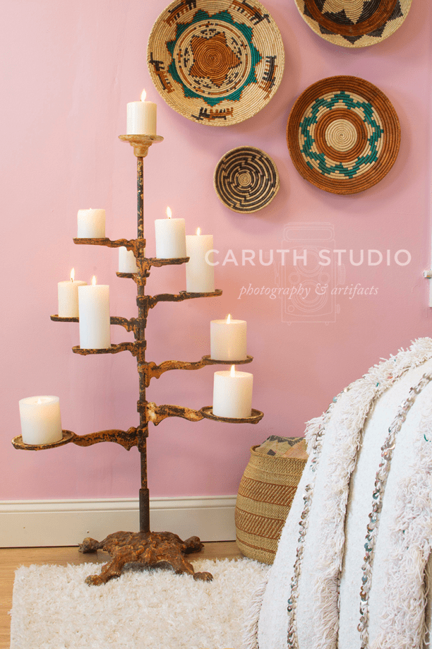 brass floor candle tree