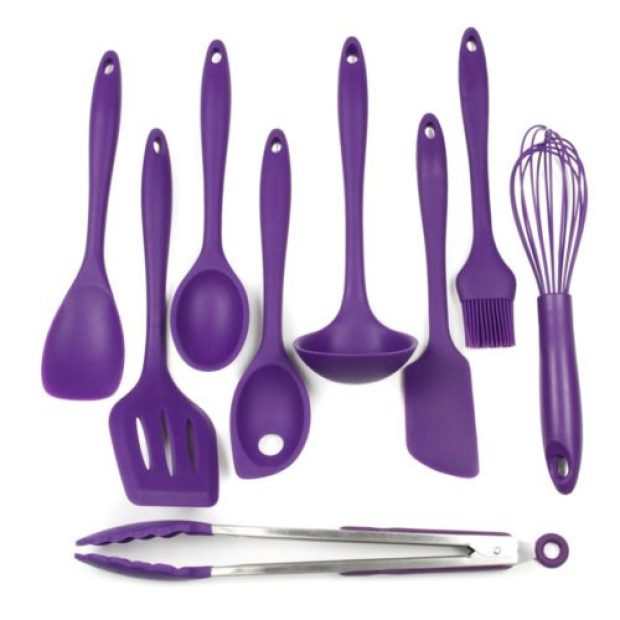 Chef Craft 9 Piece Silicone Kitchen Tool and Utensil Set