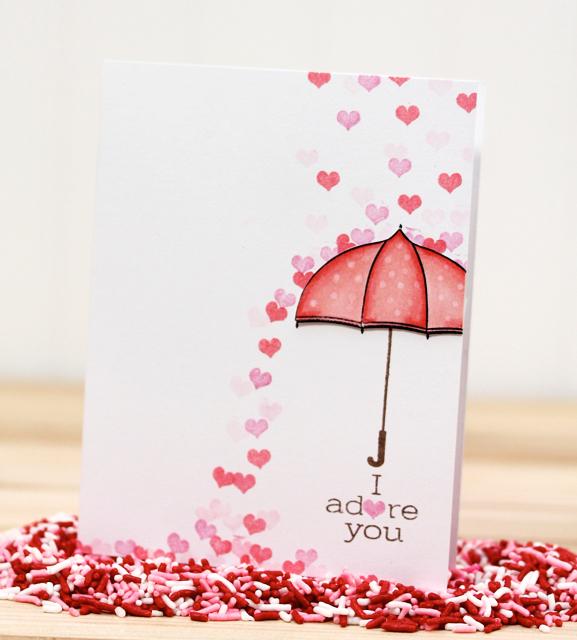 greeting card and rose petals