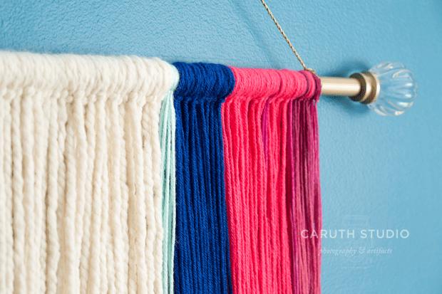 Textile wall hanging detail