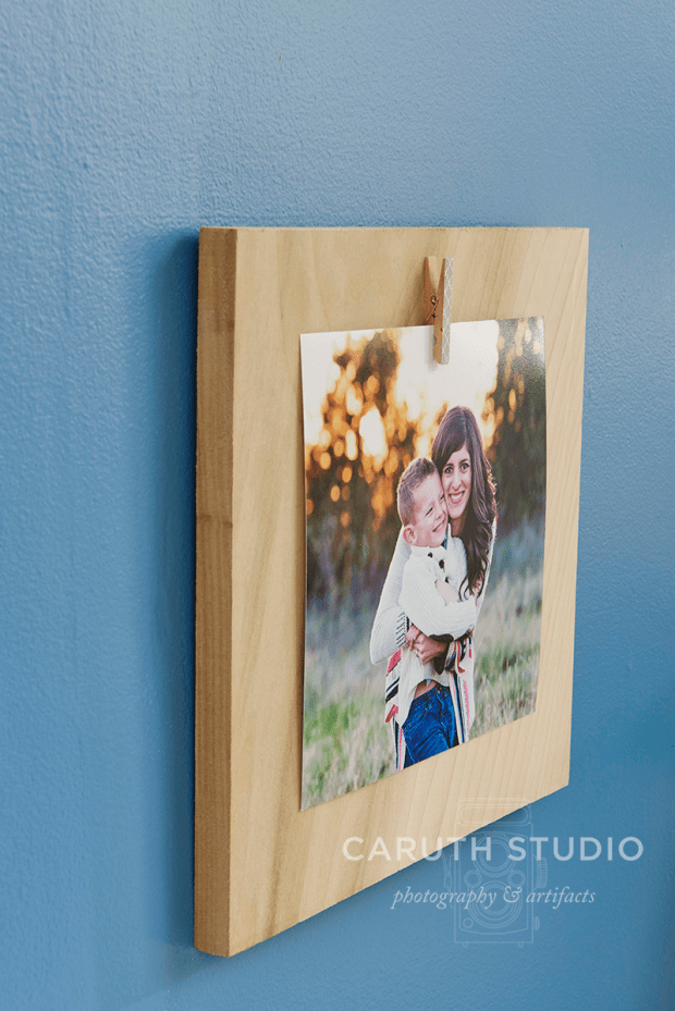 Wood plaque with photo