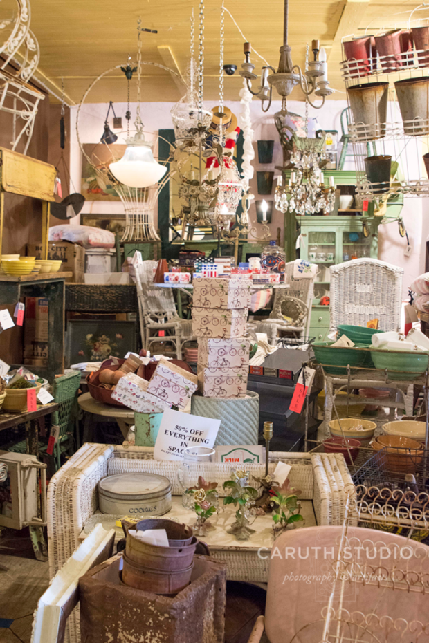 Chelsea antiques booth full of all kinds of things