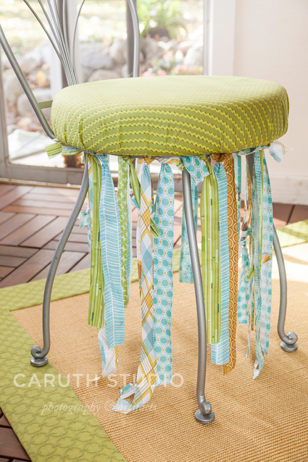 Embellished patio chairs