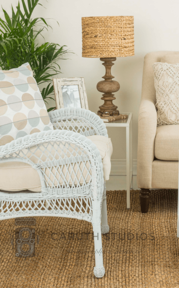 Neutral living room side chair