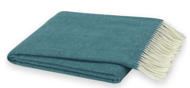 Teal Italian Herringbone Throw by Lands Downunder