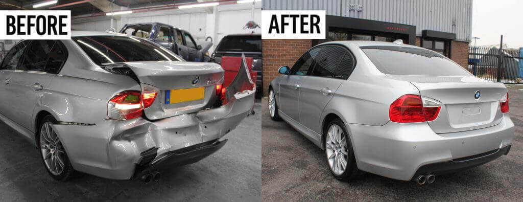 classified car write off before and after image