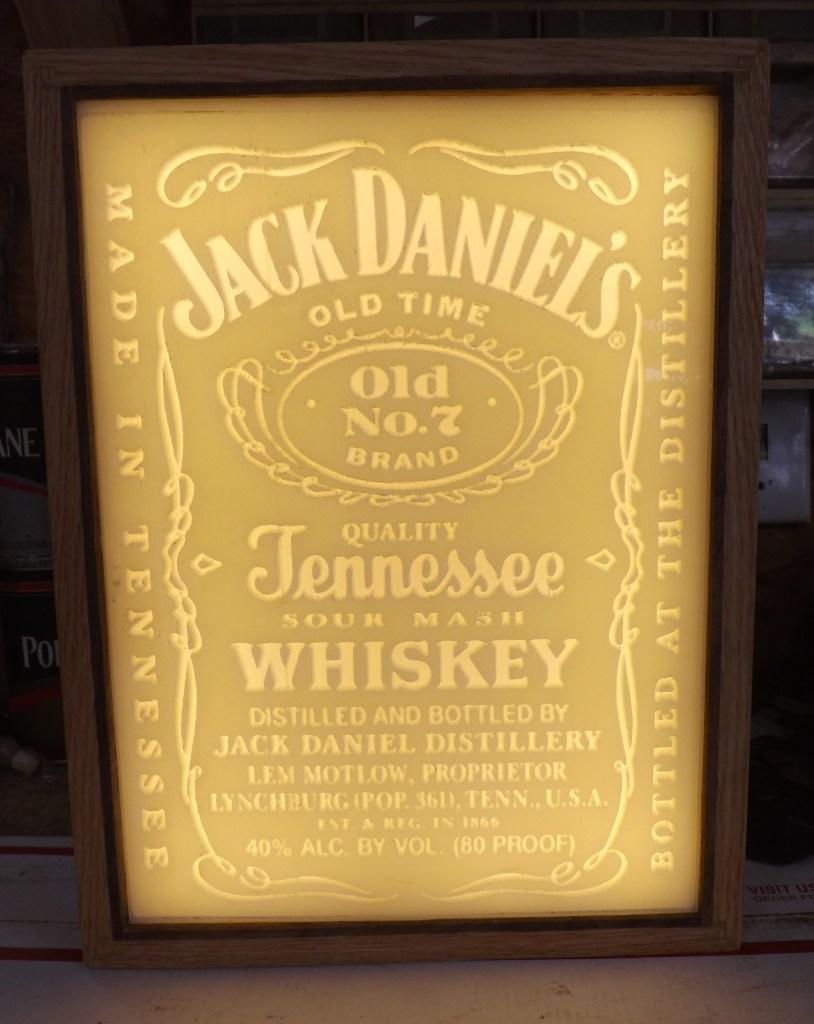 Carved Jack Daniels Lithopane